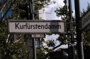 ulica kurfurstendamm w Berlinie