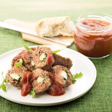 Kuleczki mięsne nadziewane mozarellą (źródło: www.heinz.pl)
