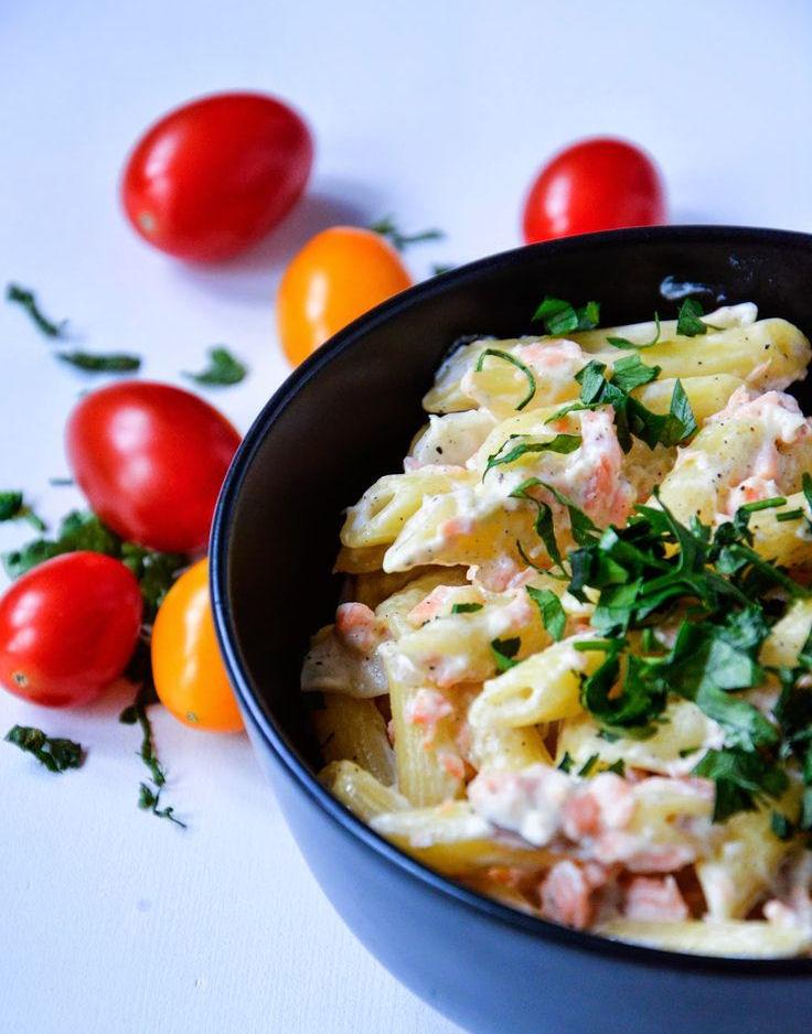 makaron ryżowy z mascarpone