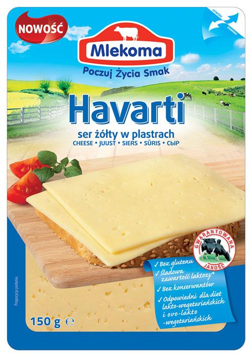Havarti - ser żółty w plastrach