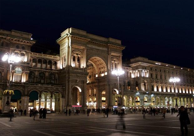 na zdjęciu Milan nocą